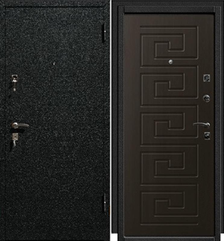 дверь входная металлическая цвет черный