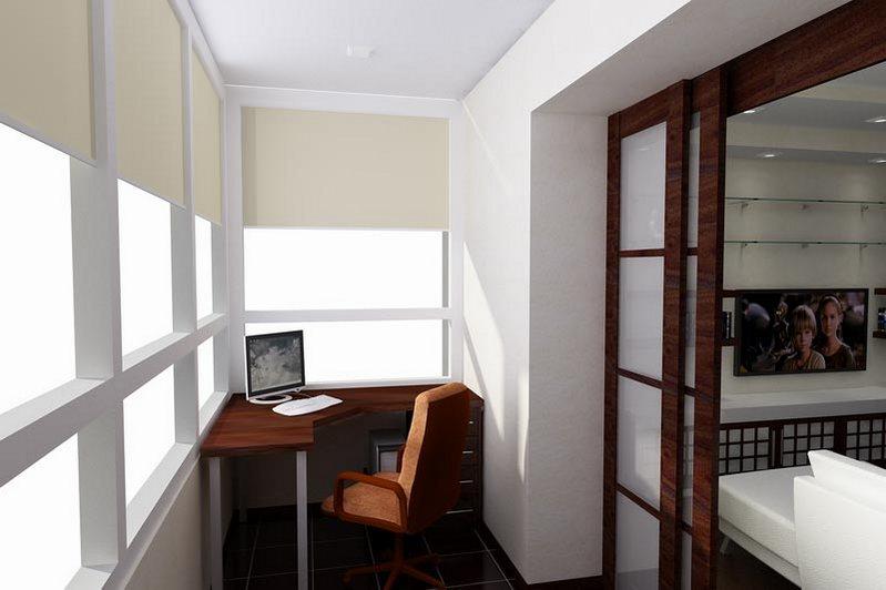 Объединение лоджии и комнаты п111м.