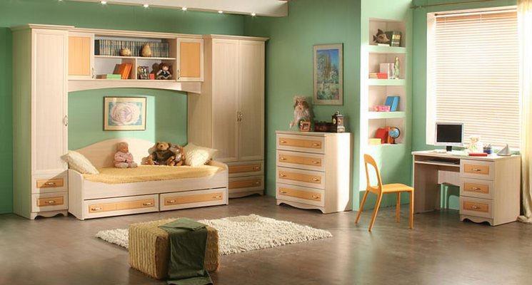 Дизайн маленьких детских комнат на 2 детей 51