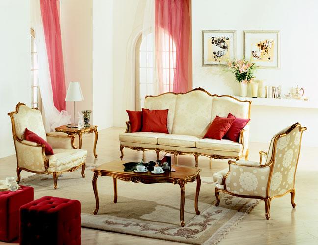 мебель в стиле неоклассика, диван, столик